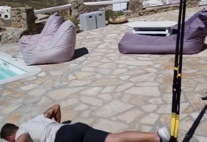 Ασκήσεις με TRX ιμαντες από τον Δήμο Αγγελόπουλο